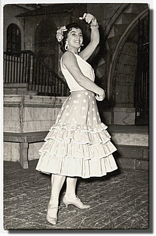 Ljubica Vrsajkov as Carmen, June 1960